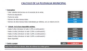 Impuesto de plusvalía municipal